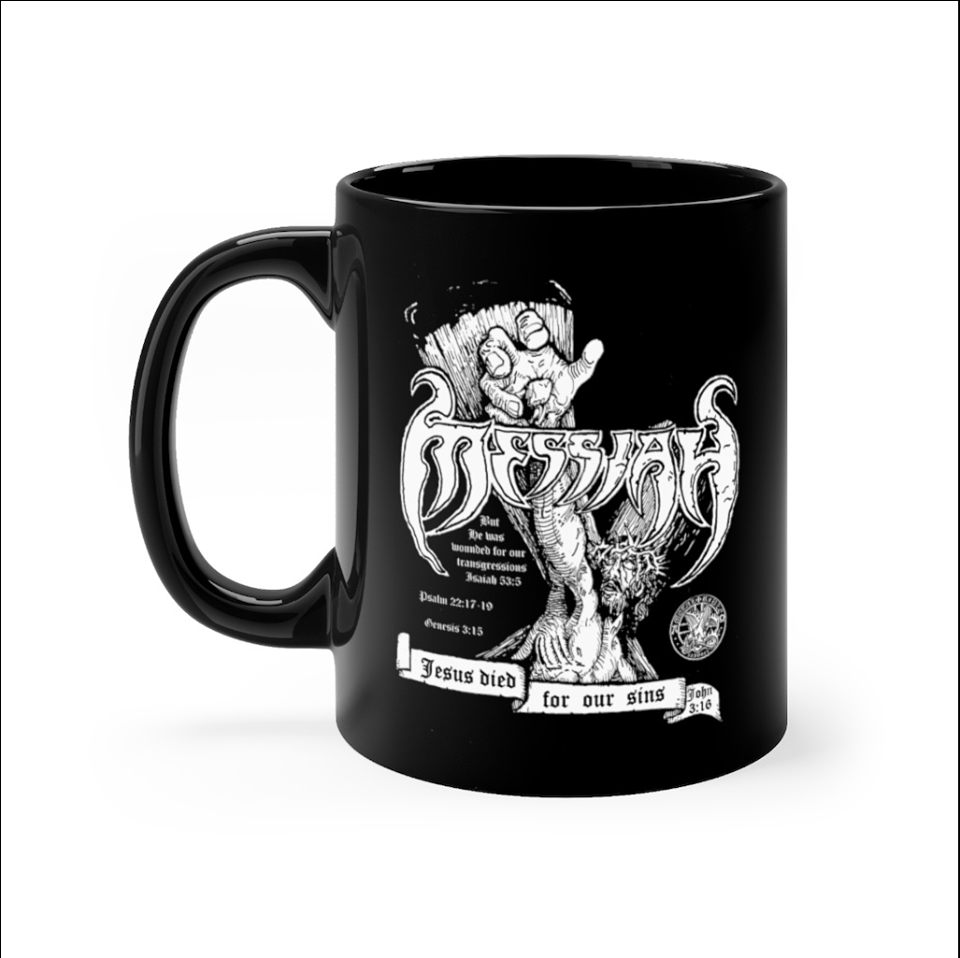 Metal Bible Support Messiah mug